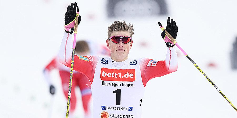 Клебо одержал победу в гонке с раздельным стартом в Руке, Червоткин и Большунов — на пьедестале