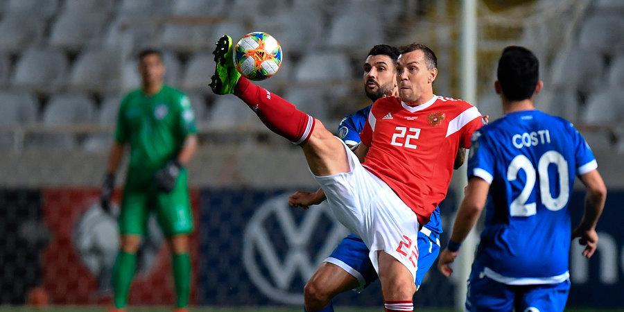 Сборная России разгромила Кипр и обеспечила себе выход на чемпионат Европы