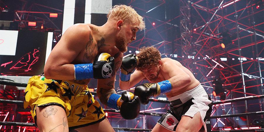 Блогер Пол нокаутировал экс-бойца UFC Аскрена в боксерском поединке