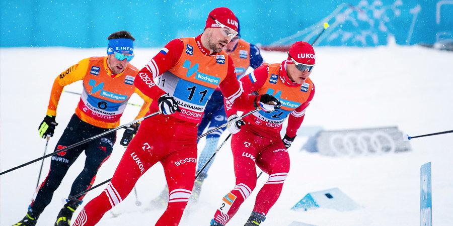 Российские лыжники не оставили шансов норвежцам в эстафете, команды Устюгова и Мельниченко  — с золотом и серебром