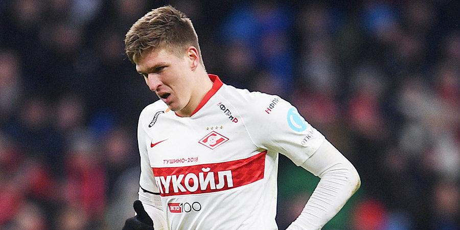 Соболев забил первый гол «Спартака» в сезоне и в слезах посвятил его умершей маме (видео)
