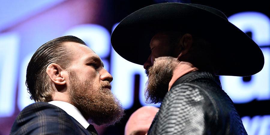 Макгрегор и Серроне показали одинаковый вес в преддверии боя на UFC 246