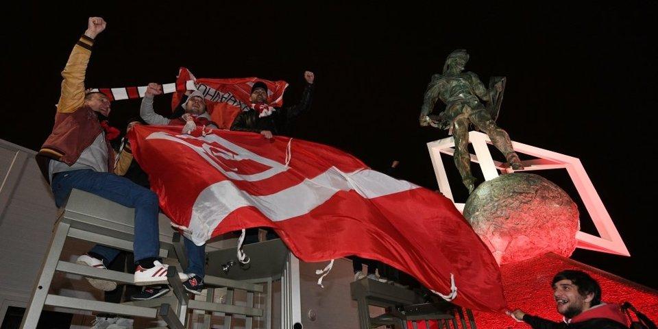 Болельщики «Спартака» празднуют чемпионство