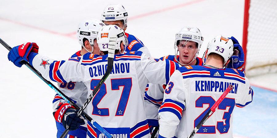 Последний топ-матч КХЛ перед перерывом. «Динамо» уступило СКА по буллитам. Все голы здесь