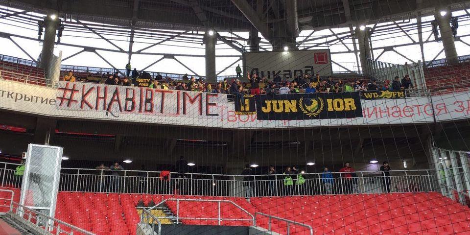 Болельщики «Анжи» поддержали Нурмагомедова баннером