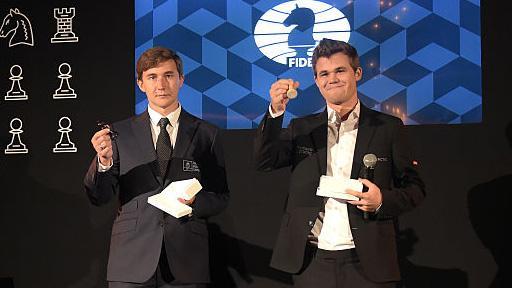 Норвежский шахматист Карлсен победил наЧМ поблицу, Карякин
