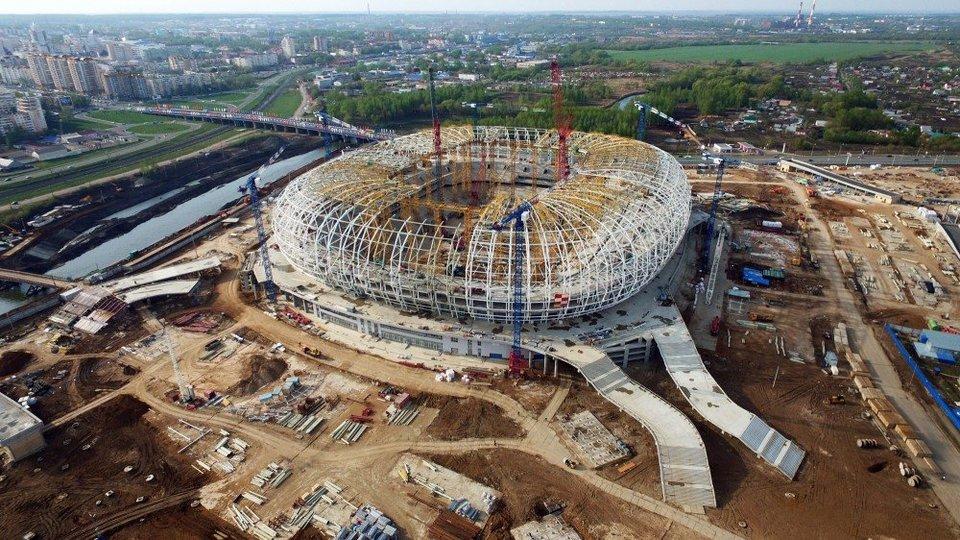 На стадионе в Мордовии установлены кресла