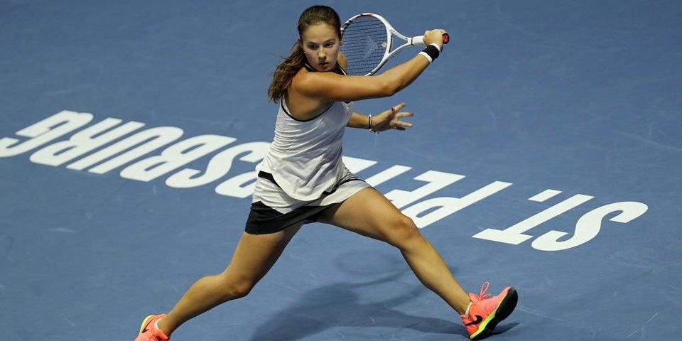 10 кадров самой яркой победы на турнире WTA в Санкт-Петербурге
