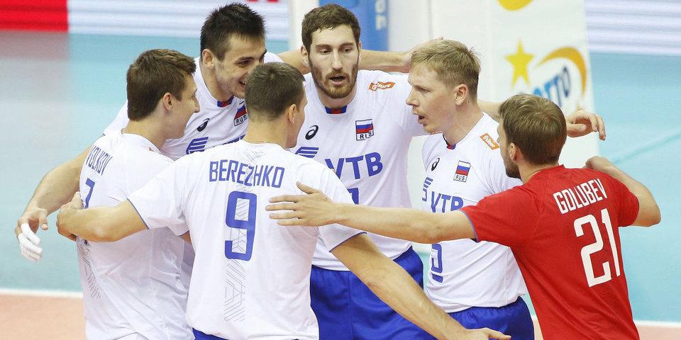 Российские волейболисты обыграли Японию в Лиге наций