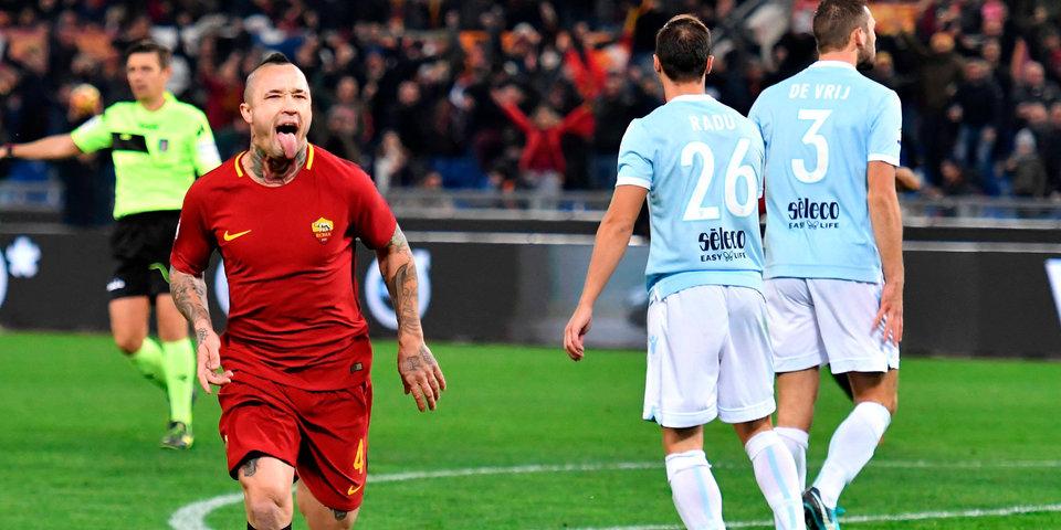 Два пенальти в римском дерби: голы и лучшие моменты