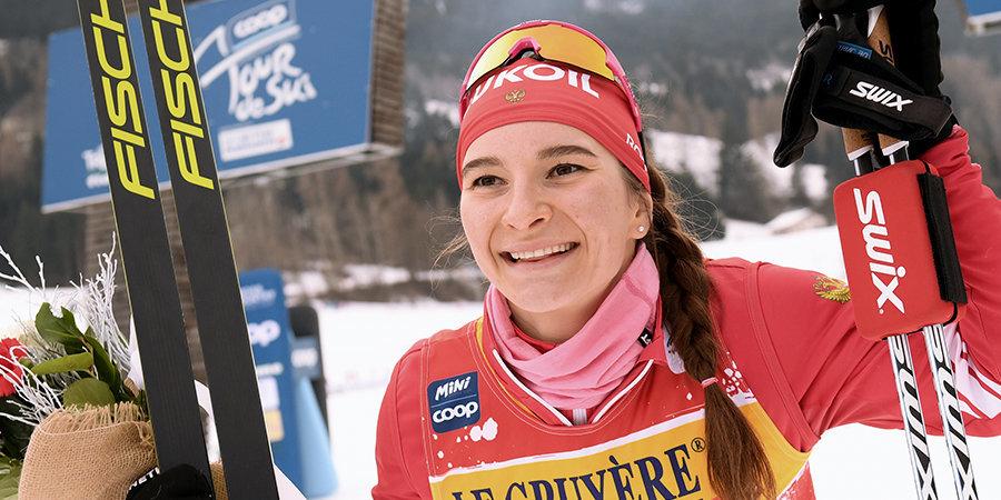 «Чуть не врезалась в Йохауг на спуске. Гонка вышла очень сложной». Непряева — новый лидер спринтерского зачета «Тур де Ски»!