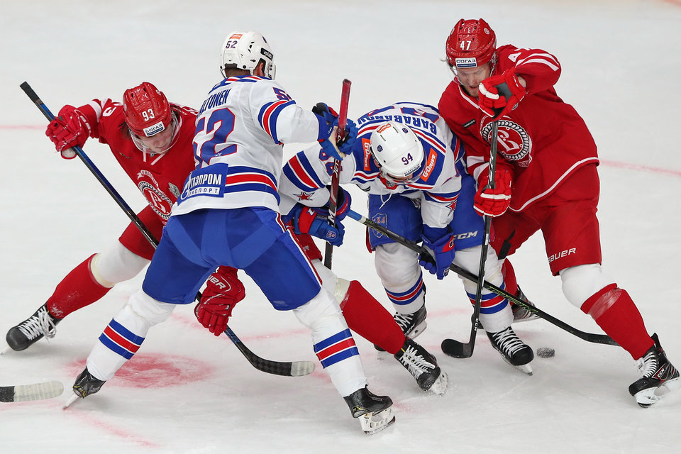 СКА дожал «Витязь» в третьем овертайме и стал первым четвертьфиналистом Кубка Гагарина