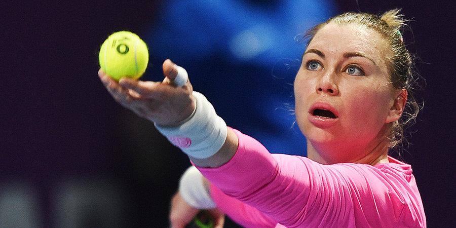 Звонарева проиграла Соболенко на старте турнира в Мадриде