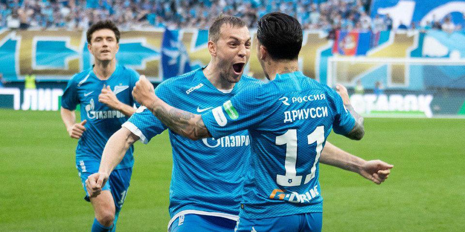 «Зенит» обыграл ЦСКА (3:1) и отметил чемпионство на «Газпром Арене». Голы, лучшие моменты и церемония награждения