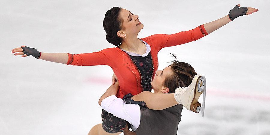 Шанаева и Нарижный занимают третье место после ритм-танца в финале юниорского Гран-при