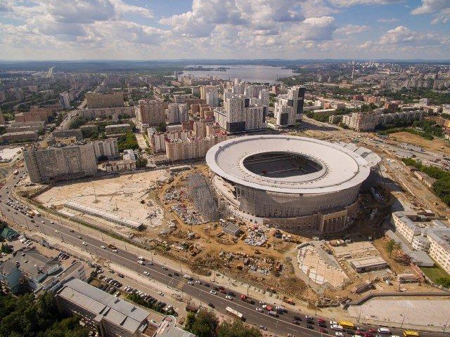 Завершилось строительство стадиона ЧМ-2018 в Екатеринбурге