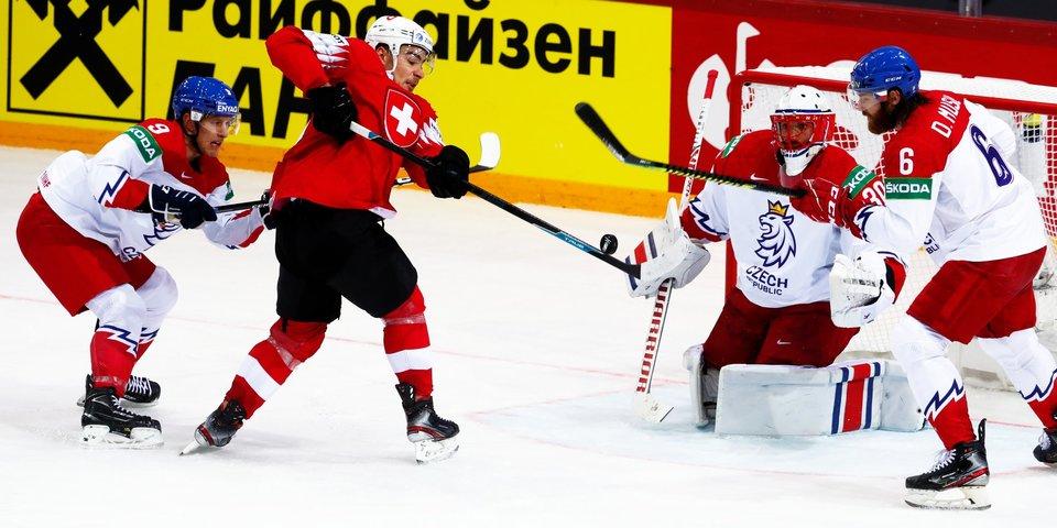 Швейцария победила Чехию на чемпионате мира. Казахстан в серии буллитов одолел Латвию