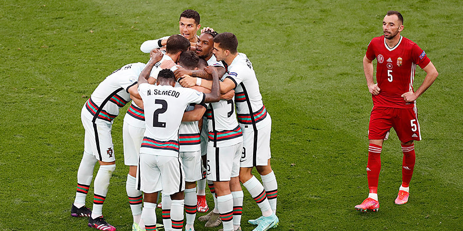 Португалия разгромила Венгрию на чемпионате Европы. Роналду установил три рекорда