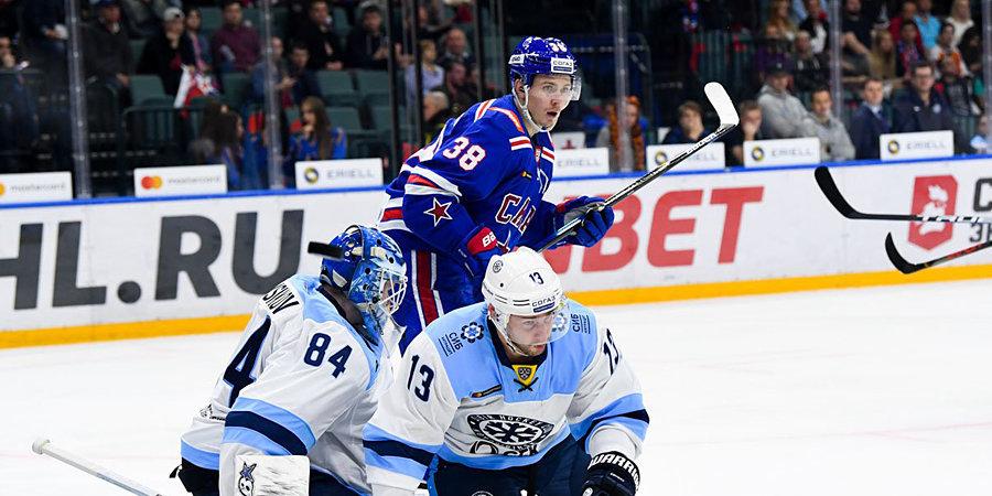 СКА одержал победу в первом матче на «канадской» площадке. Сейв сезона от вратаря «Сибири» не стал помехой