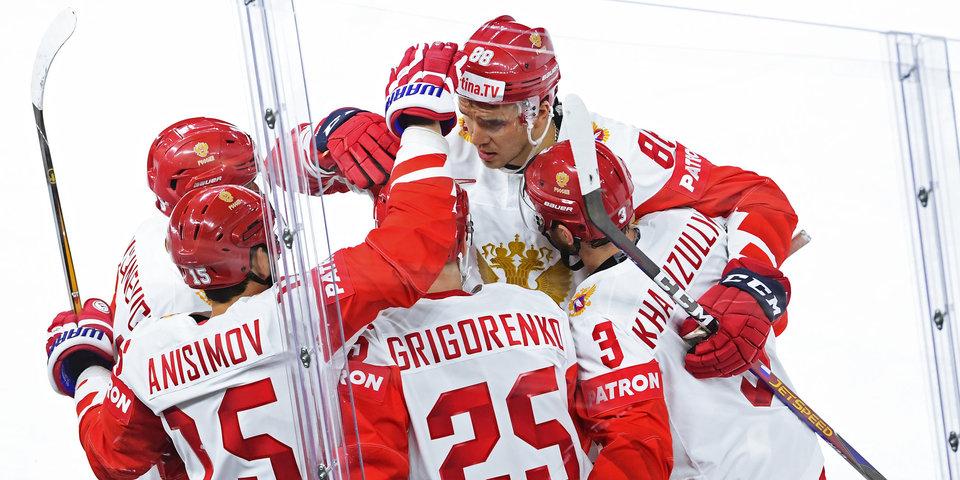 Сборная России одержала вторую крупную победу подряд на ЧМ