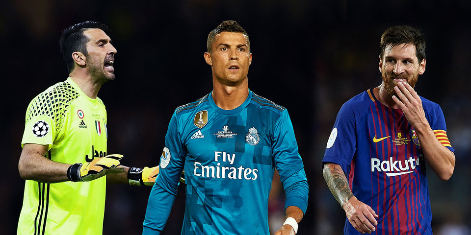 Роналду, Месси, Буффон и Ибрагимович претендуют на звание футболиста года по версии ФИФА