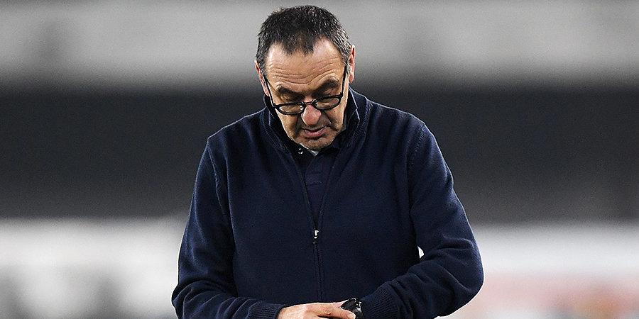 В «Ювентусе» исключили увольнение Сарри, если команда не сможет пройти в четвертьфинал Лиги чемпионов
