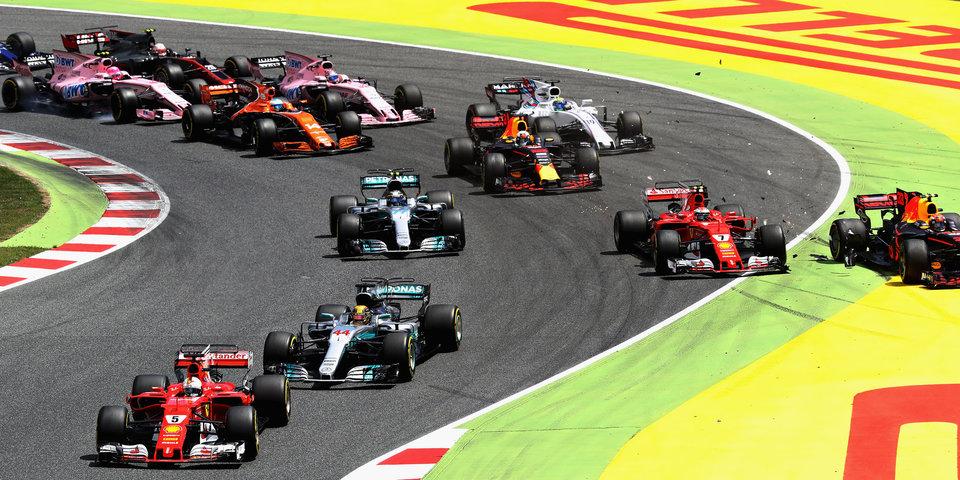 Хэмилтон побеждает, Ферстаппен и Райкконен вылетают на первом повороте: лучшие моменты Гран-при Испании