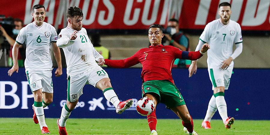 Дубль Роналду принес Португалии волевую победу над Ирландией в отборе на ЧМ-2022