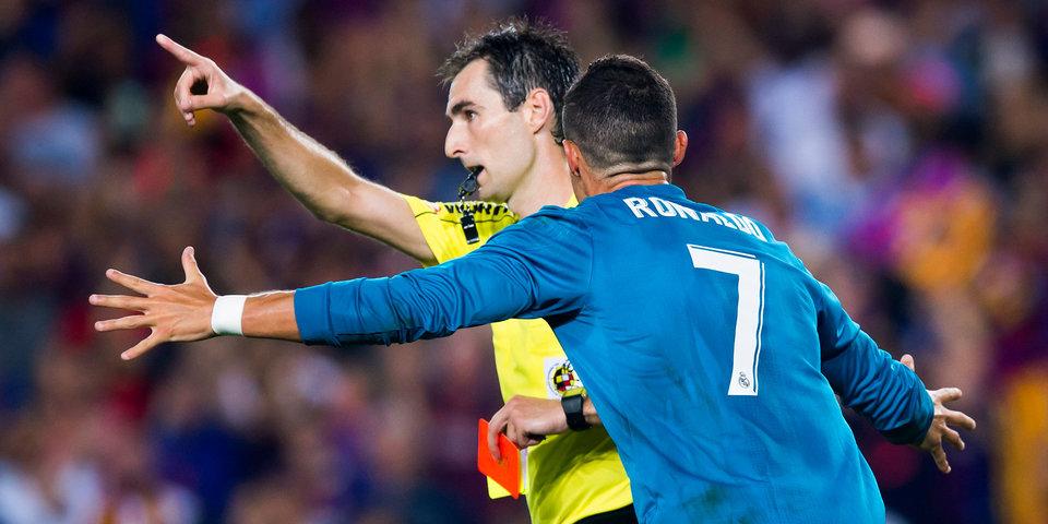 Роналду принес победу «Реалу» над «Барселоной» и получил красную карточку