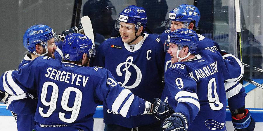 «Динамо» совершило невозможное — в концовке матча четыре раза поразило ворота самой неприступной команды КХЛ и вырвало победу