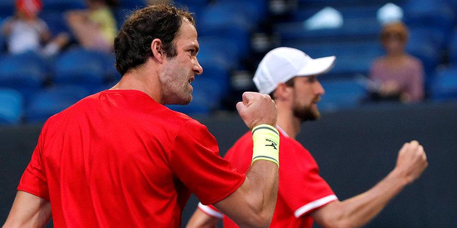 Сборная России завершила групповой этап ATP Cup победой над норвежцами в парном разряде