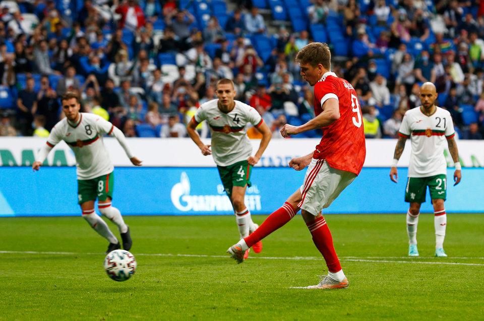 Сборная России показала, что осталось за кадром матча с Болгарией