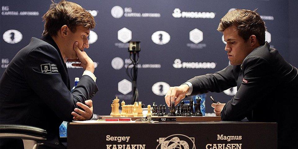 Третья партия между Карякиным и Карлсеном завершилась в ничью