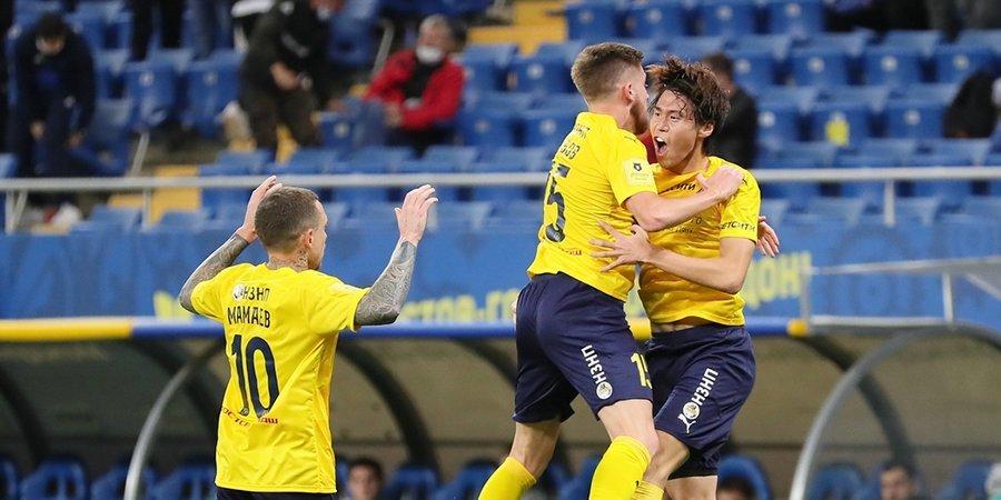 «Ростов» в большинстве одержал крупную победу над «Ахматом». Мелкадзе не забил пенальти
