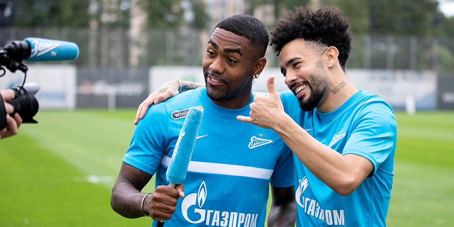 Малком и Клаудиньо вернулись в Россию и приступили к тренировкам с «Зенитом»