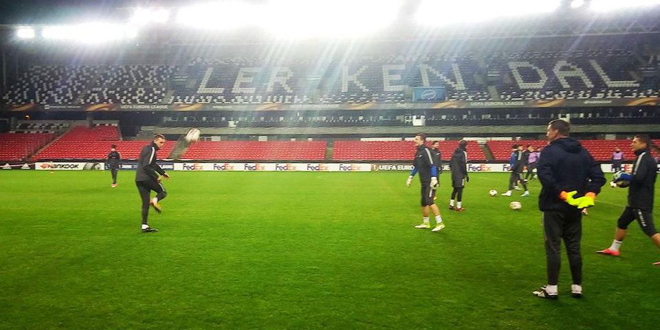 Дзюба и Лунев устроили свою игру на стадионе «Леркендаль»