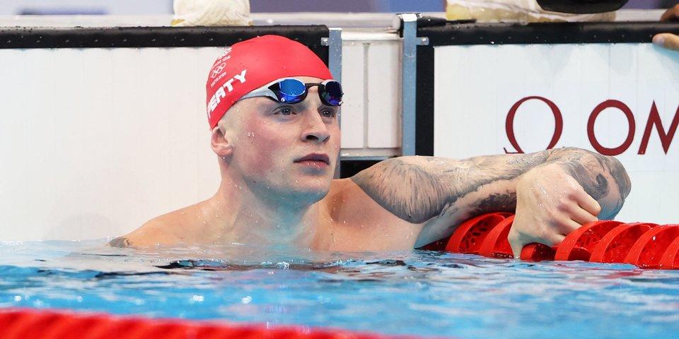 Пити взял золото на 100 м брассом и стал двукратным олимпийским чемпионом