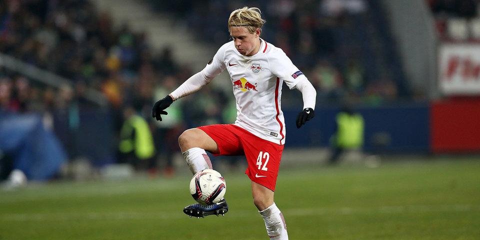 «Зальцбург» разгромил «Хибернианс» в матче Лиги чемпионов