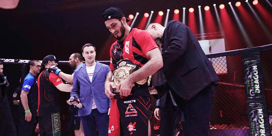 Гасанов стал временным чемпионом ACA в среднем весе