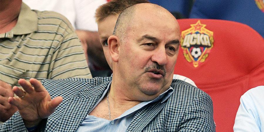 Черчесов посетил матч ЦСКА — «Уфа» в Москве