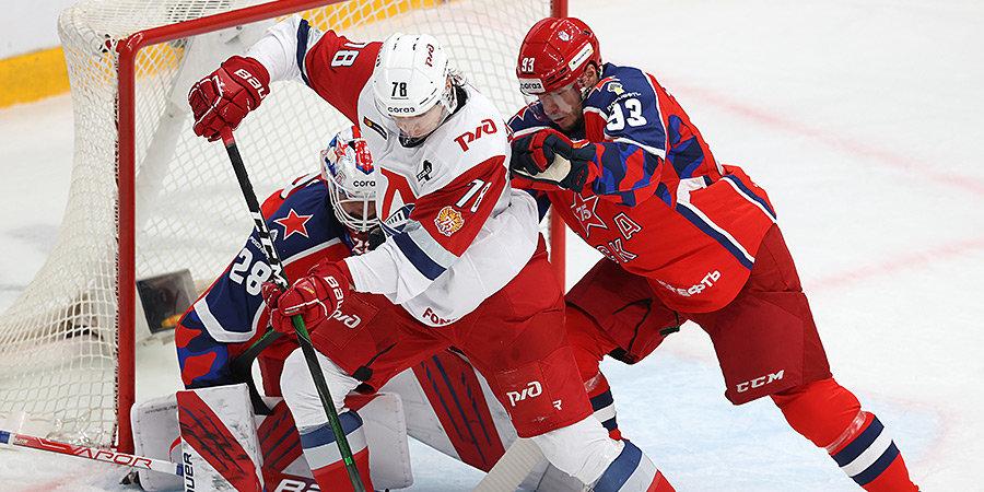 ЦСКА одержал победу над «Локомотивом», Андронов провел 600-й матч в КХЛ