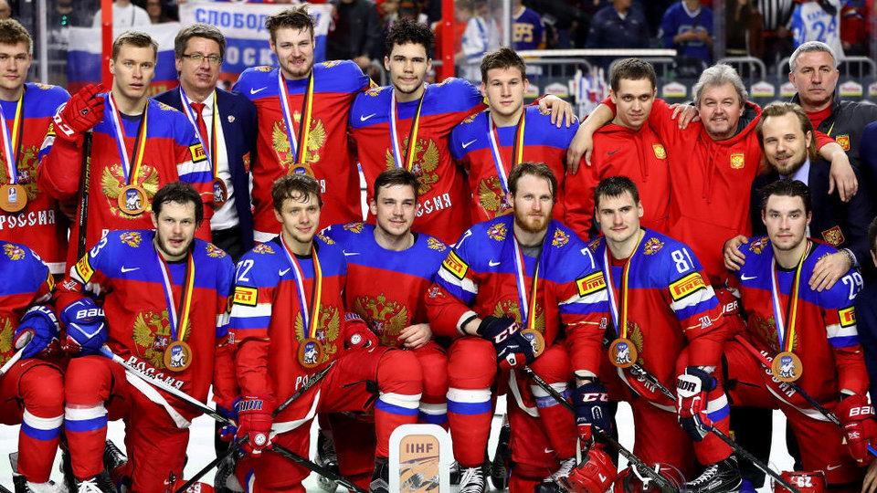 Обнародовано расписание сборной Российской Федерации похоккею наИгры