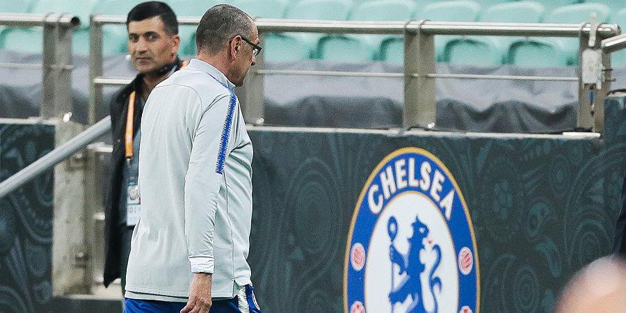 СМИ: Сарри покинул тренировку «Челси» после ссоры Давида Луиза и Игуаина