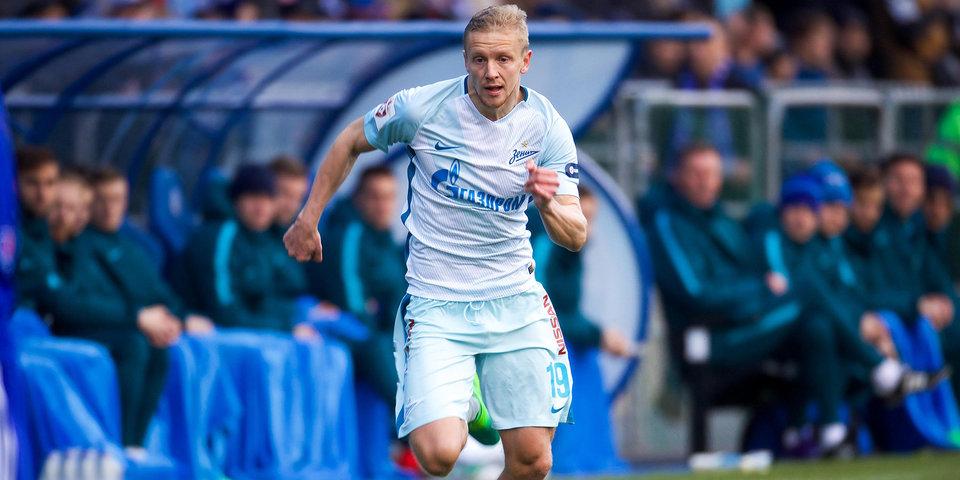 Смольников, Маммана и Жирков разминались в общей группе «Зенита» перед матчем с «Копенгагеном»