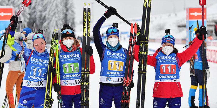 Белоруски взяли серебро, Россия — в семи секундах от медали (с кругом!), Павлова и Шашилов зажгли в интервью. Главное об эстафете
