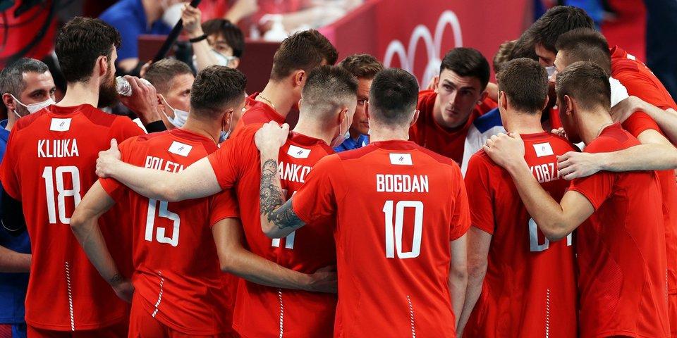Мужская сборная России по волейболу опустилась на третье место в рейтинге FIVB