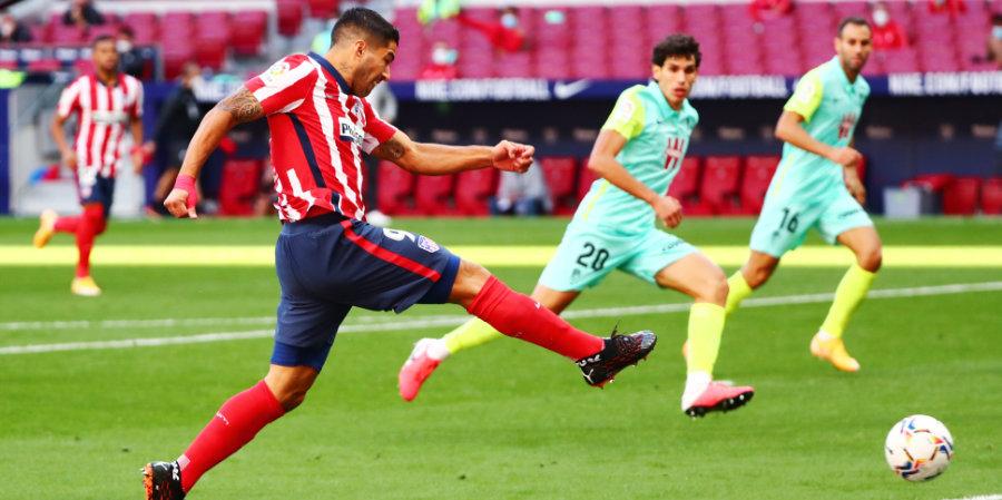 Суарес тратит 54 минуты на результативное действие в «Атлетико»