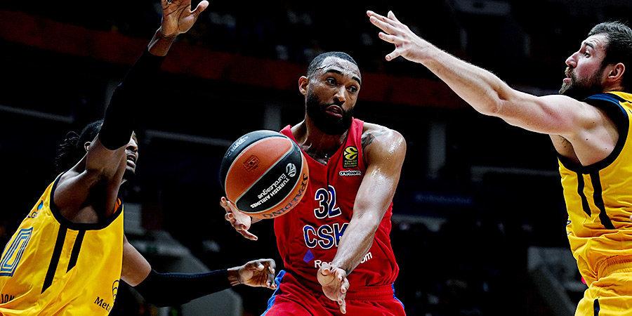 ЦСКА нанес «Химкам» первое поражение в сезоне, Джеймс набрал 28 очков