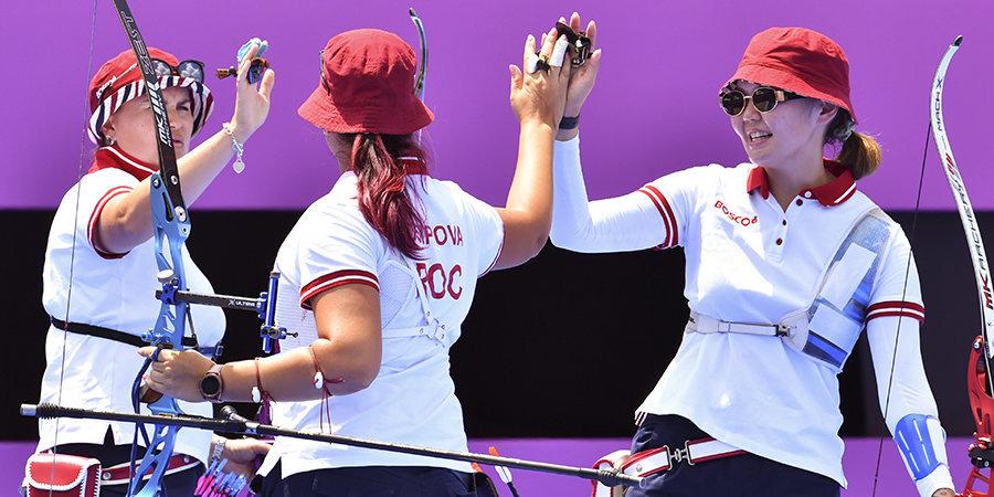 Женская сборная России по стрельбе из лука завоевала серебро Олимпийских игр