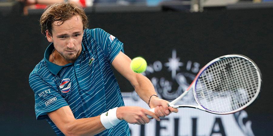Сборная России лишилась шансов на выход в финал ATP Cup после поражения Медведева от Джоковича